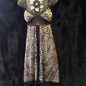 Satin Leopard Dress